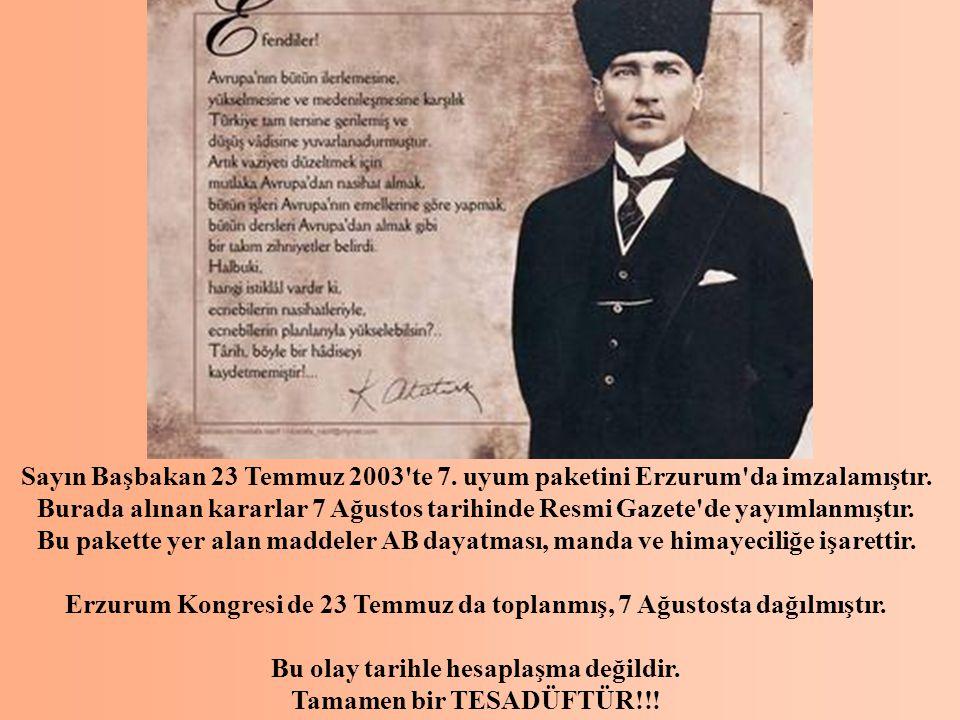 Erzurum Kongresi de 23 Temmuz da toplanmış, 7 Ağustosta dağılmıştır.