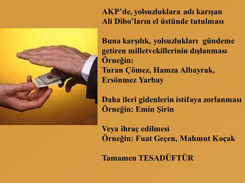 AKP'de, yolsuzluklara adı karışan