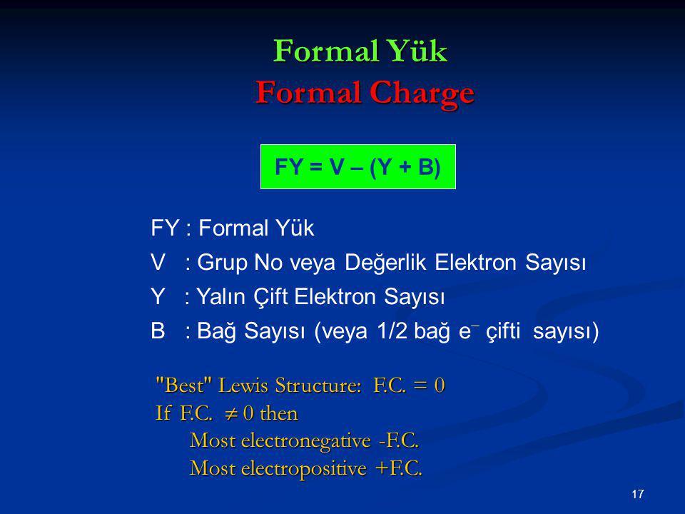 Formal Yük Formal Charge