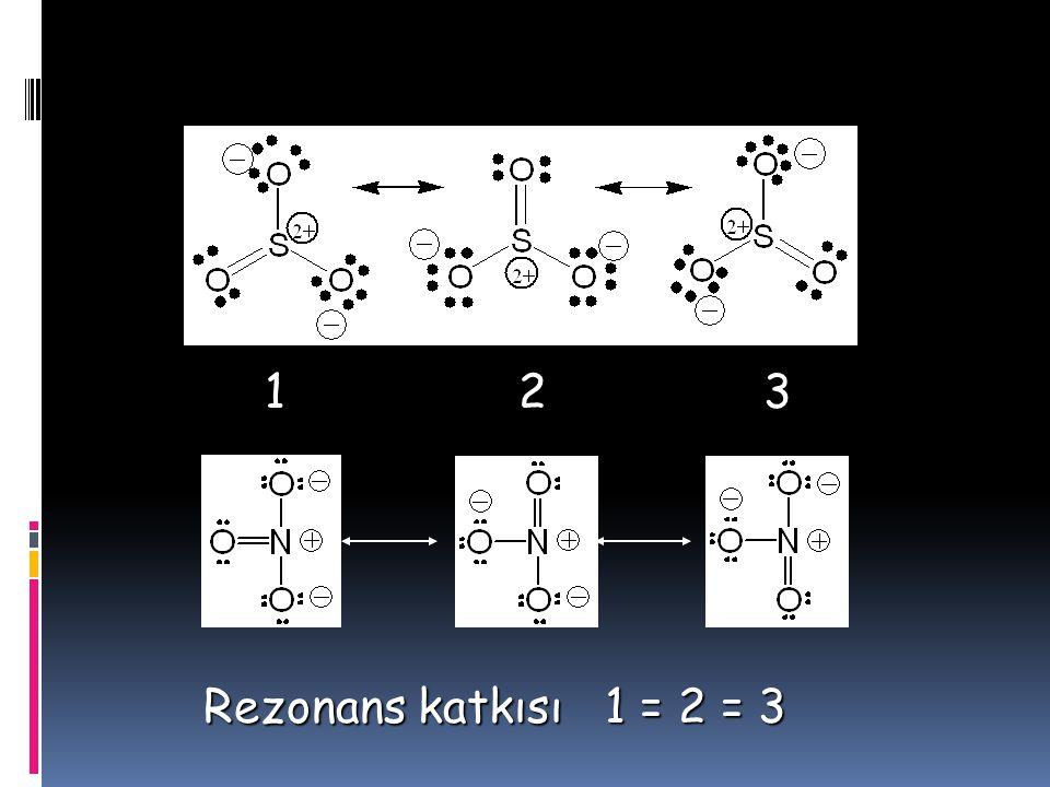 1 2 3 Rezonans katkısı 1 = 2 = 3