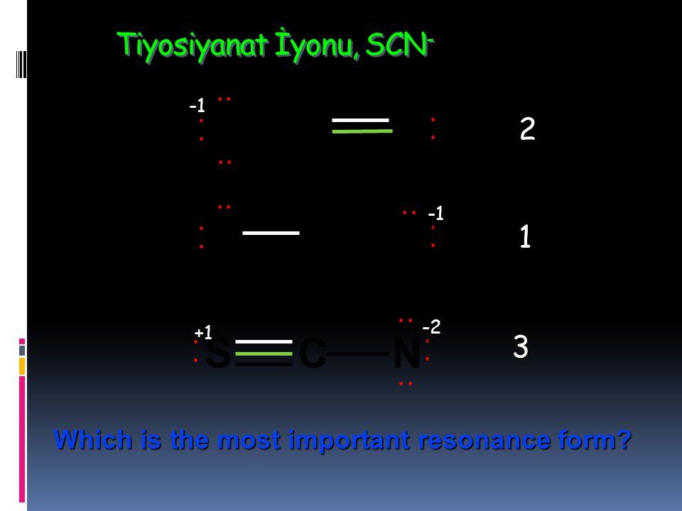Tiyosiyanat İyonu, SCN-