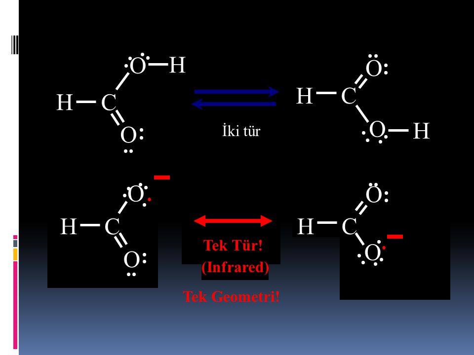 H C O H C O H C O İki tür Tek Tür! Two Species (EPR) (Infrared)