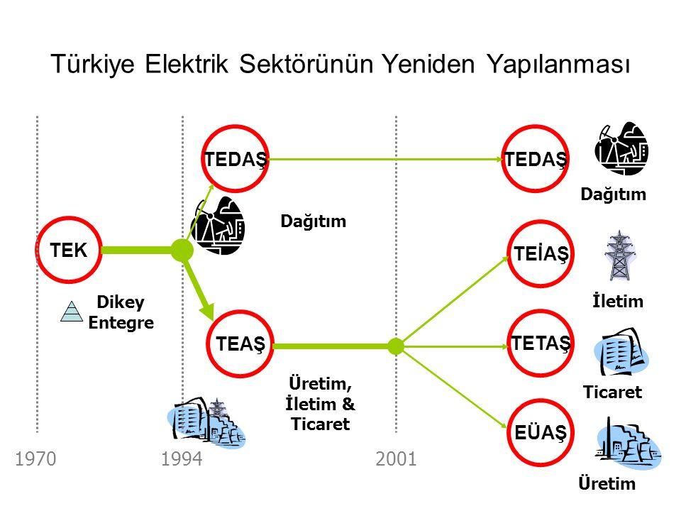 Türkiye Elektrik Sektörünün Yeniden Yapılanması