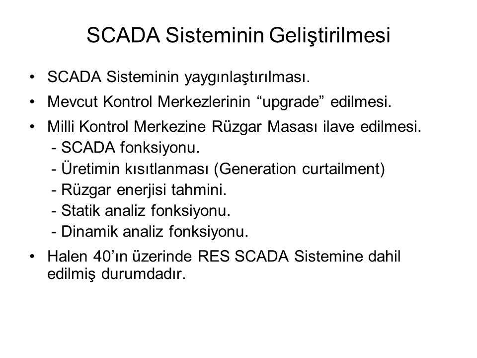 SCADA Sisteminin Geliştirilmesi