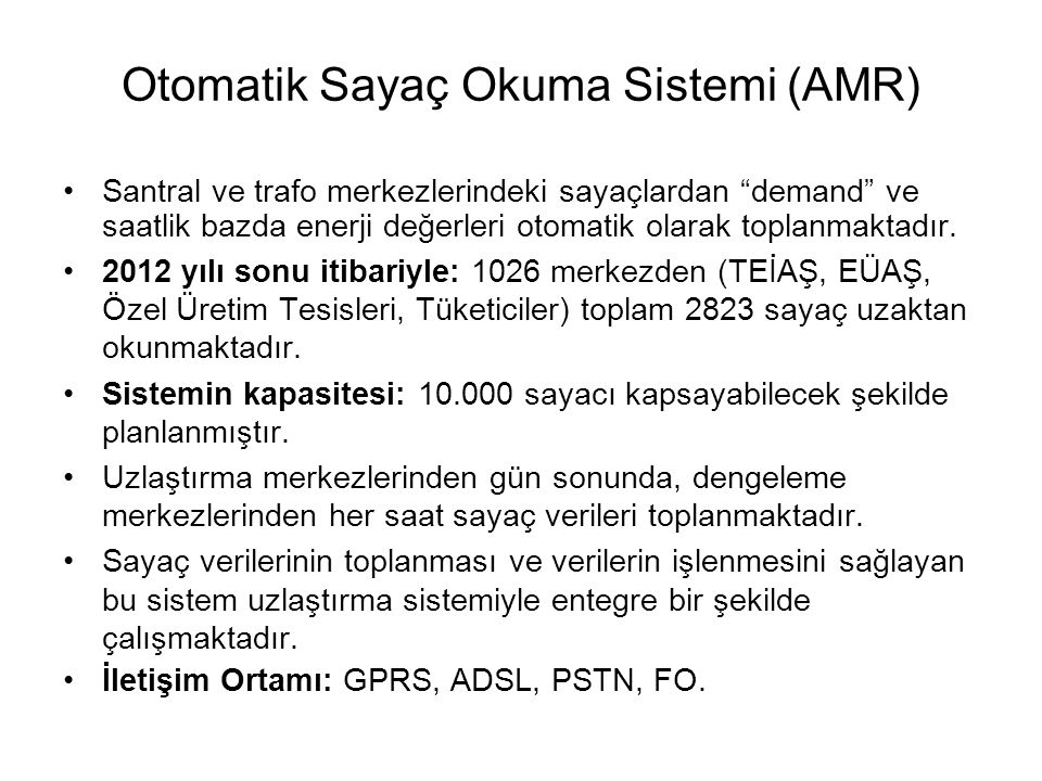 Otomatik Sayaç Okuma Sistemi (AMR)
