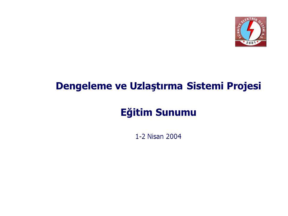1. Dengeleme ve Uzlaştırma Sistemine Genel Bakış
