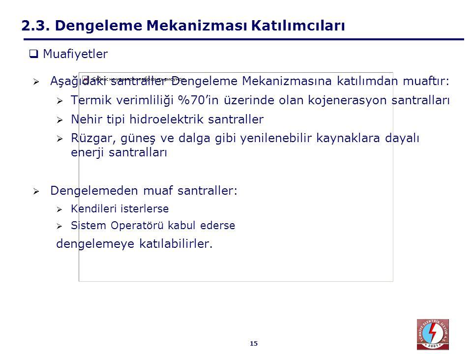 2.3. Dengeleme Mekanizması Katılımcıları