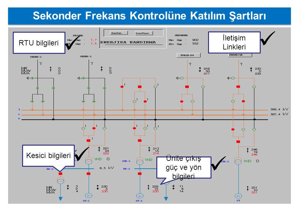 Sekonder Frekans Kontrolüne Katılım Şartları