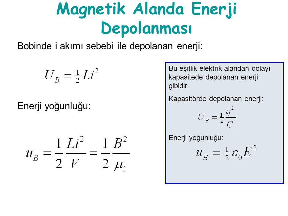 Magnetik Alanda Enerji Depolanması