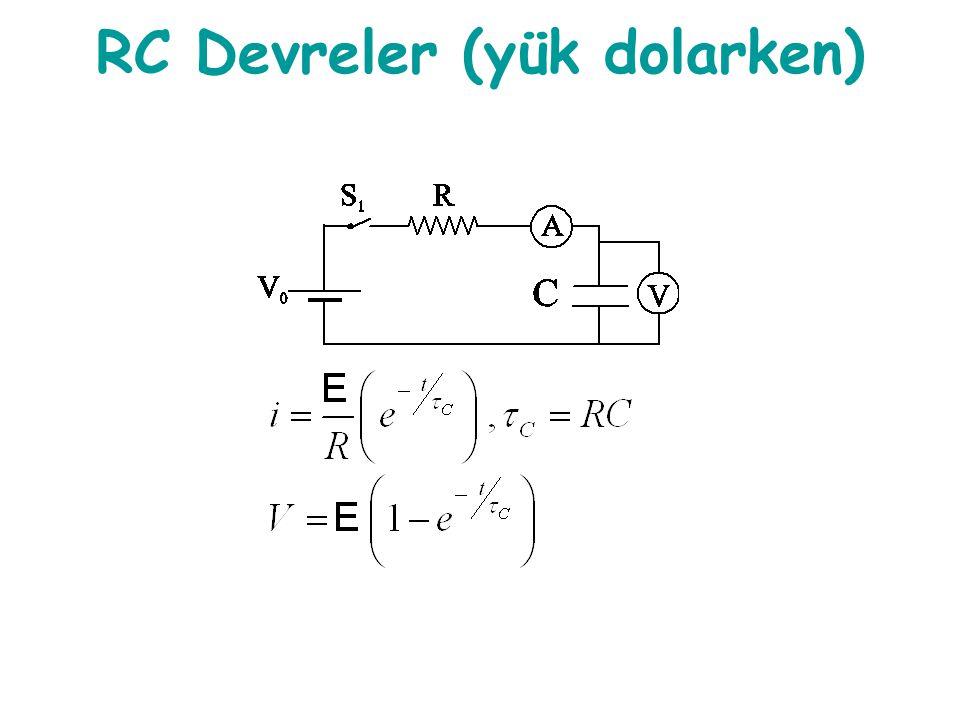RC Devreler (yük dolarken)