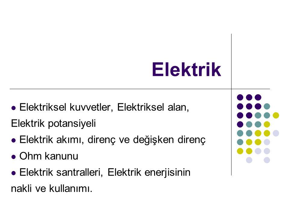 Elektrik Elektriksel kuvvetler, Elektriksel alan, Elektrik potansiyeli