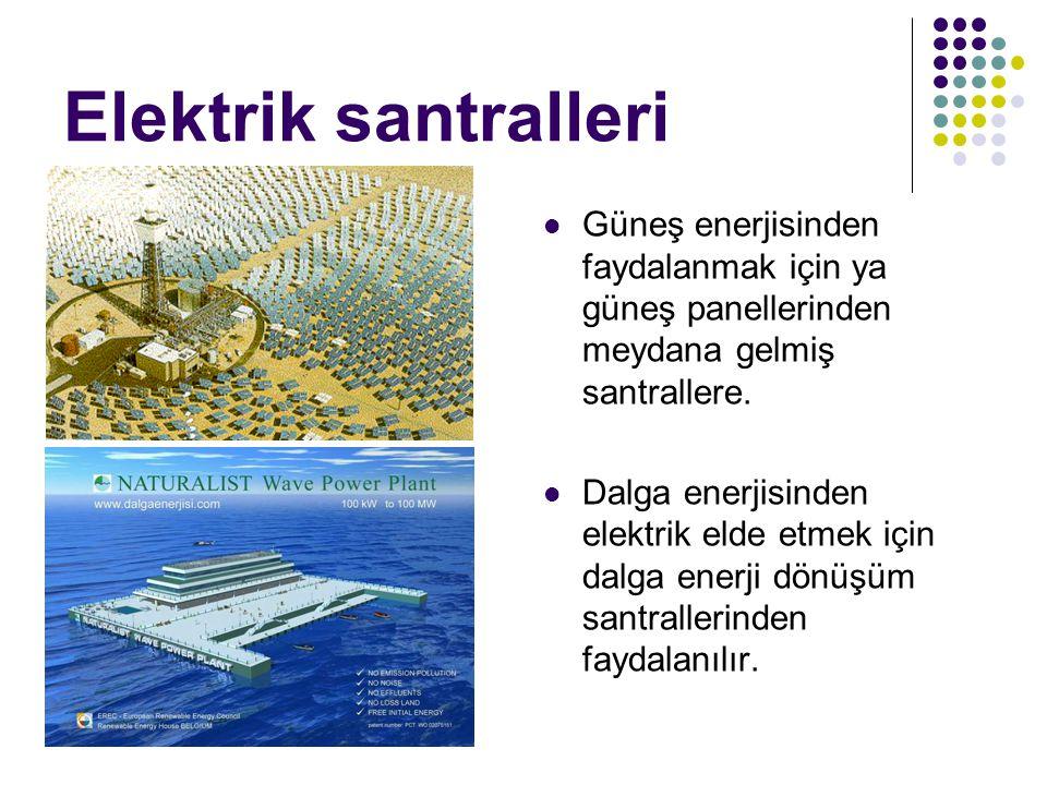 Elektrik santralleri Güneş enerjisinden faydalanmak için ya güneş panellerinden meydana gelmiş santrallere.