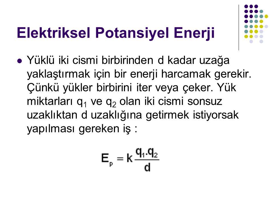Elektriksel Potansiyel Enerji