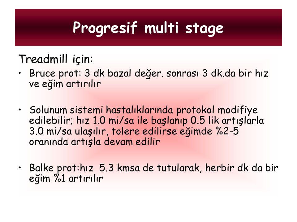 Progresif multi stage Treadmill için: