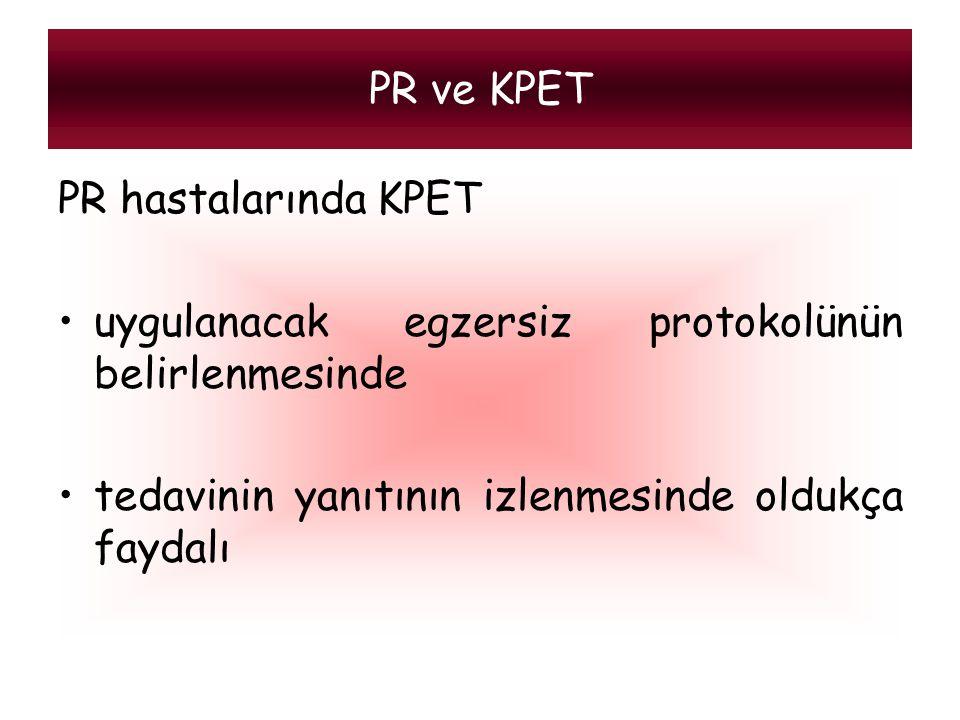 PR ve KPET PR hastalarında KPET. uygulanacak egzersiz protokolünün belirlenmesinde.