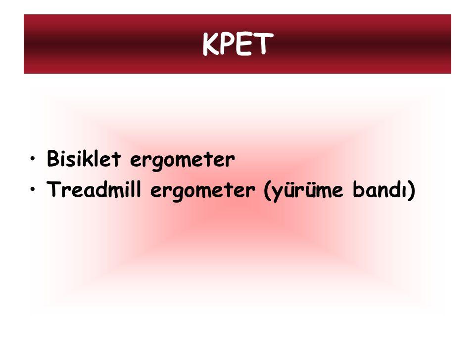 KPET Bisiklet ergometer Treadmill ergometer (yürüme bandı)