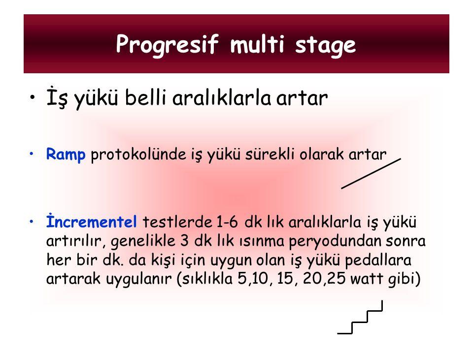 Progresif multi stage İş yükü belli aralıklarla artar