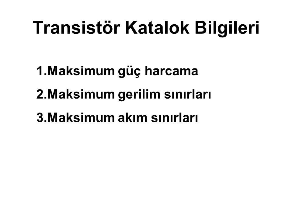 Transistör Katalok Bilgileri