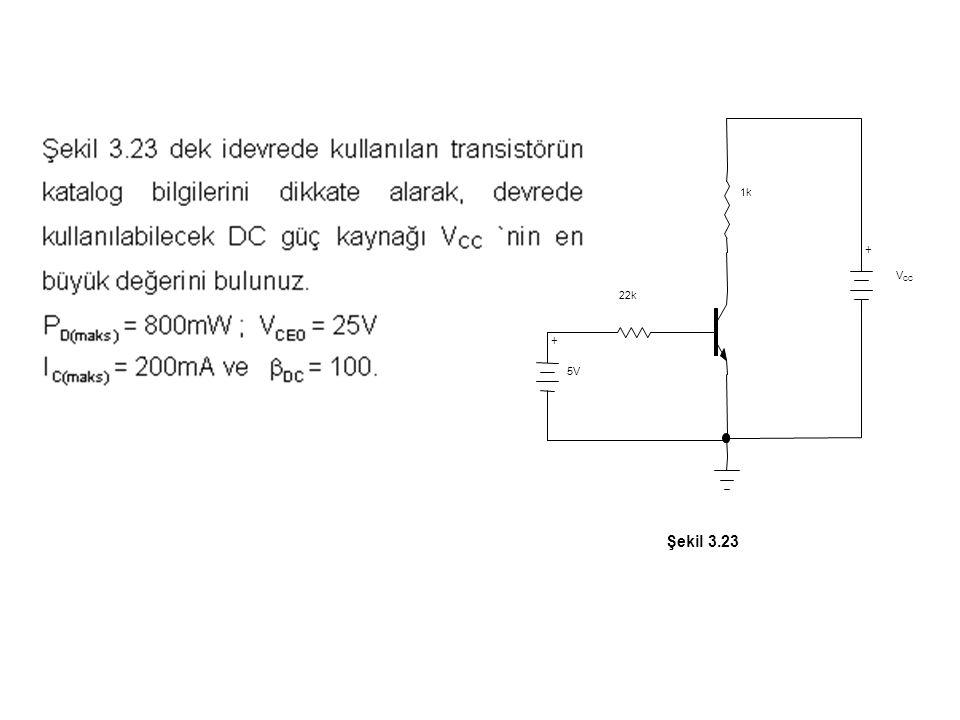 Şekil 3.23 + VCC 5V 1k 22k