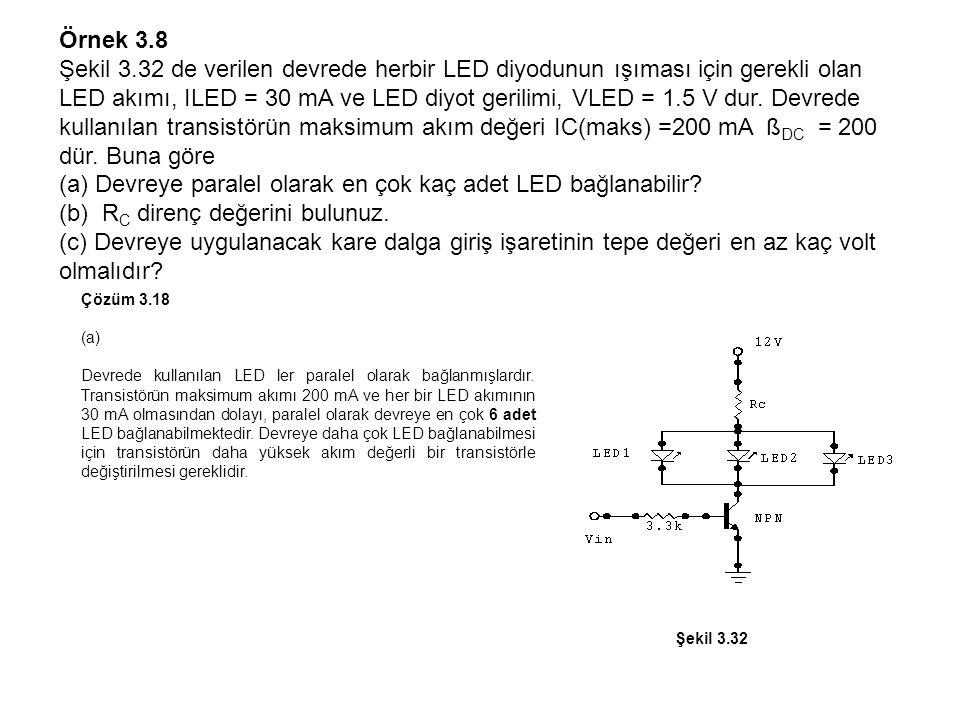 (a) Devreye paralel olarak en çok kaç adet LED bağlanabilir