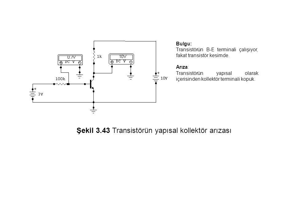 Şekil 3.43 Transistörün yapısal kollektör arızası