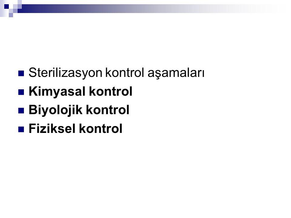 Sterilizasyon kontrol aşamaları