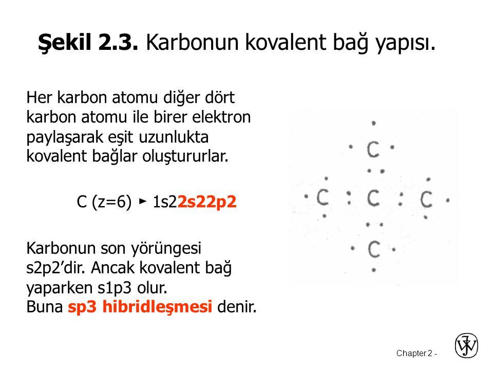 Şekil 2.3. Karbonun kovalent bağ yapısı.