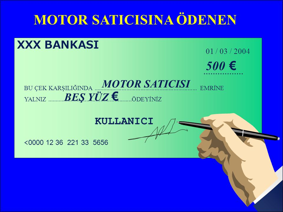 MOTOR SATICISINA ÖDENEN