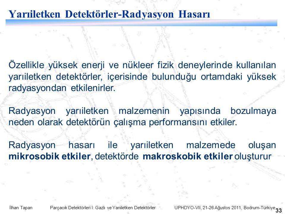 Yarıiletken Detektörler-Radyasyon Hasarı