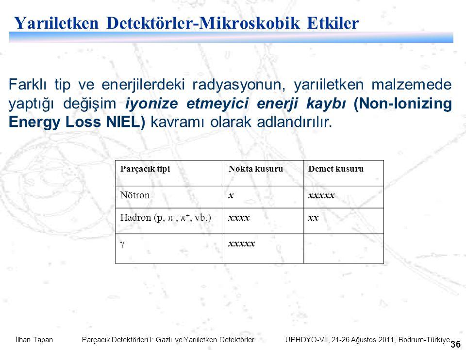 Yarıiletken Detektörler-Mikroskobik Etkiler