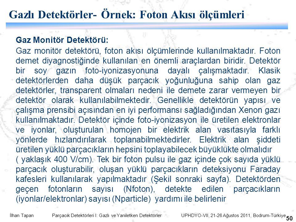 Gazlı Detektörler- Örnek: Foton Akısı ölçümleri