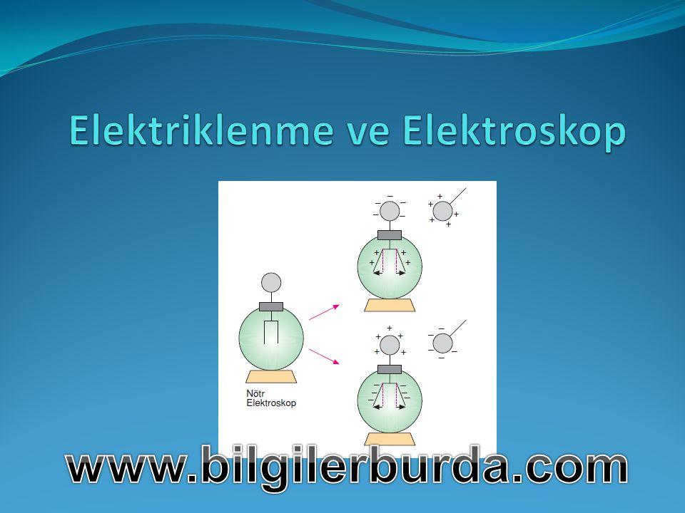 Elektriklenme ve Elektroskop