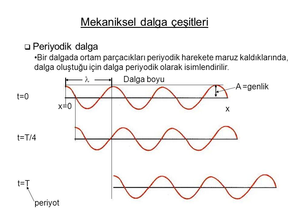 Mekaniksel dalga çeşitleri