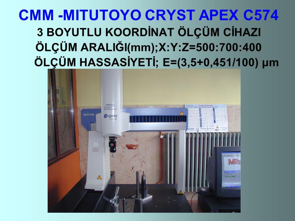 CMM -MITUTOYO CRYST APEX C574