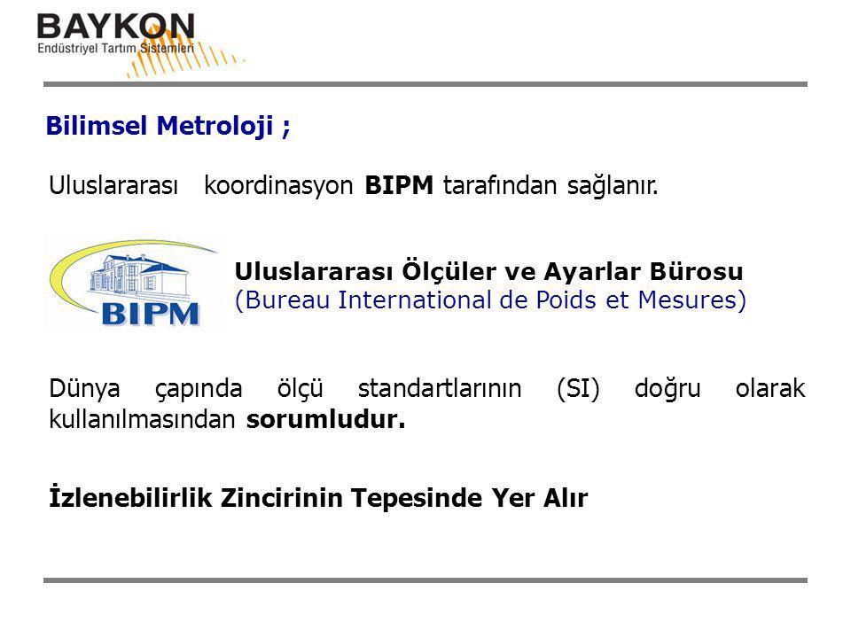 Uluslararası koordinasyon BIPM tarafından sağlanır.
