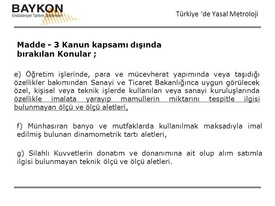 Türkiye 'de Yasal Metroloji