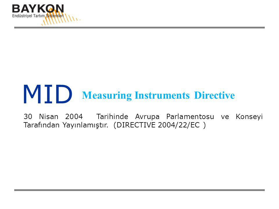 MID Measuring Instruments Directive