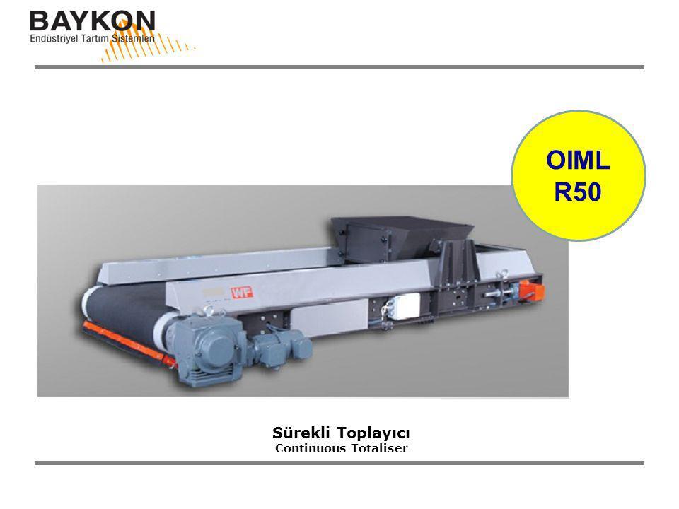 OIML R50 Sürekli Toplayıcı Continuous Totaliser