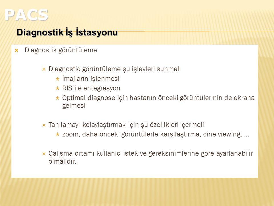 PACS Diagnostik İş İstasyonu Diagnostik görüntüleme