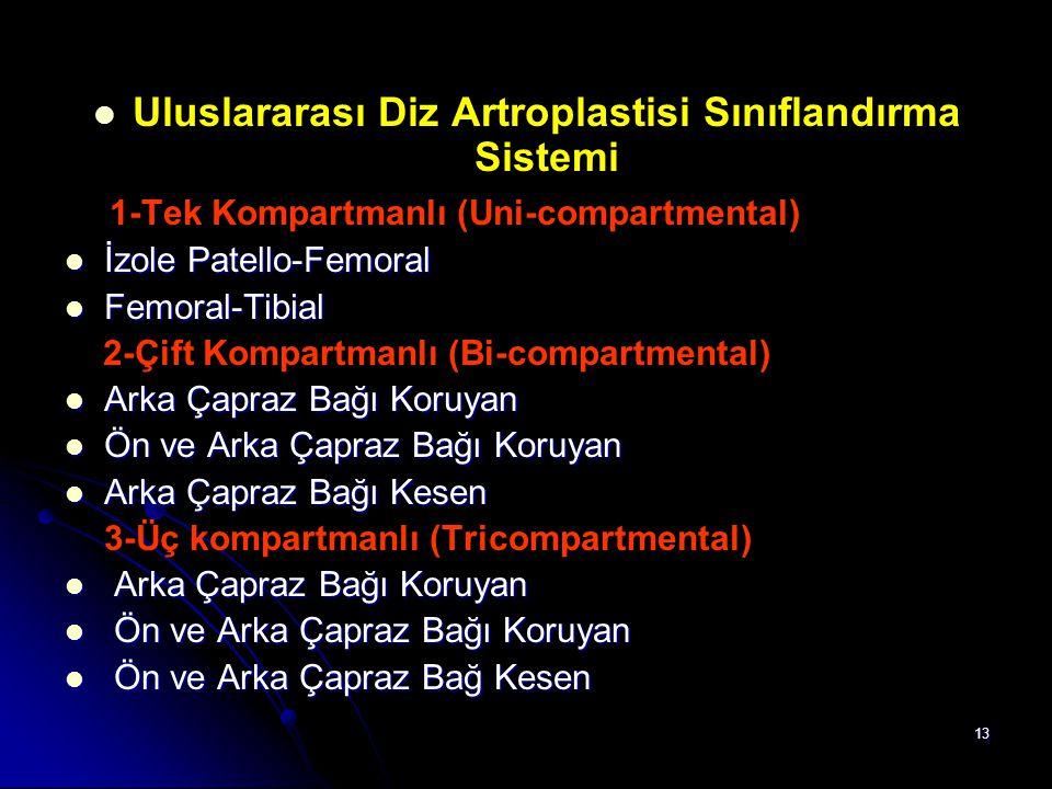 Uluslararası Diz Artroplastisi Sınıflandırma Sistemi