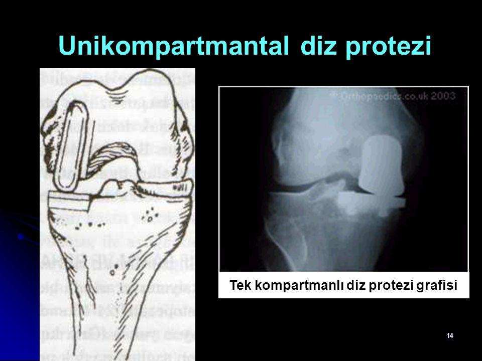 Unikompartmantal diz protezi