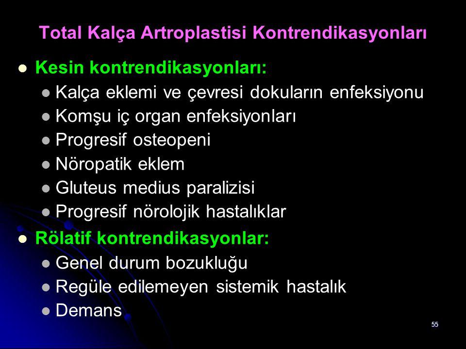 Total Kalça Artroplastisi Kontrendikasyonları