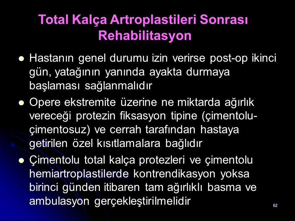Total Kalça Artroplastileri Sonrası