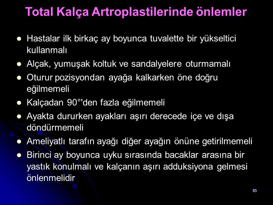 Total Kalça Artroplastilerinde önlemler