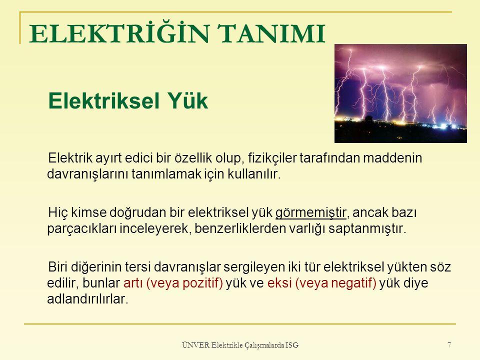 ÜNVER Elektrikle Çalışmalarda ISG
