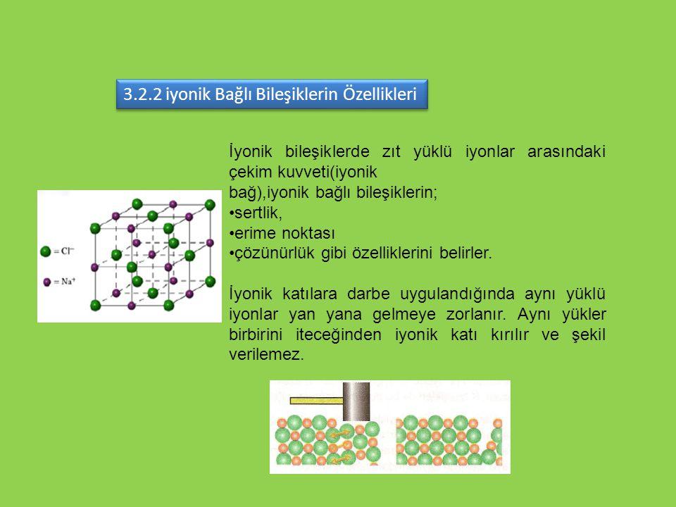 3.2.2 iyonik Bağlı Bileşiklerin Özellikleri