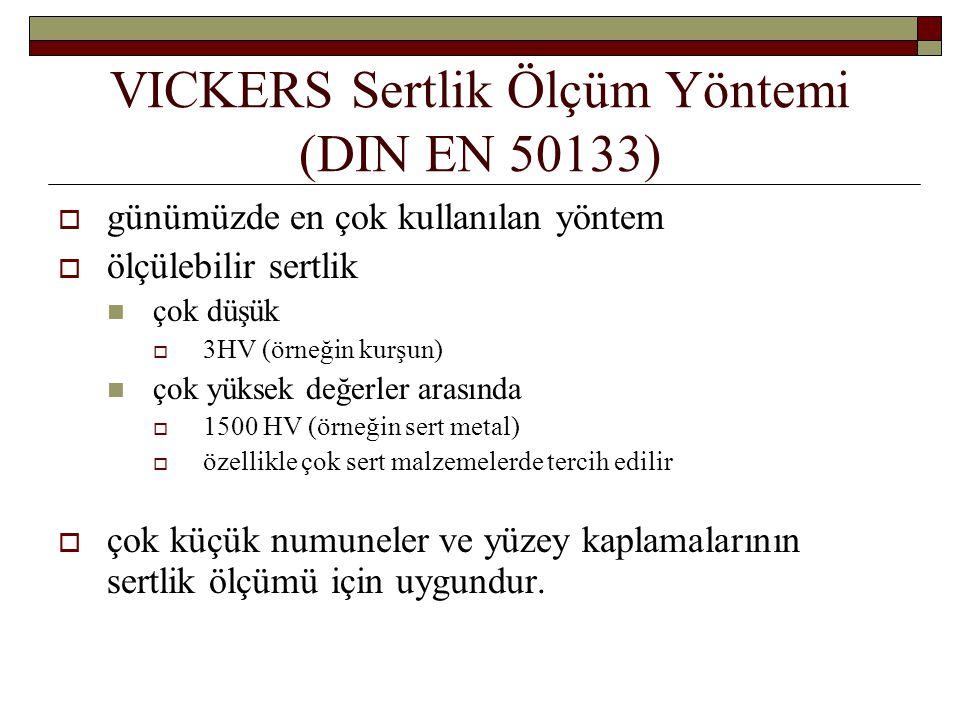 VICKERS Sertlik Ölçüm Yöntemi (DIN EN 50133)