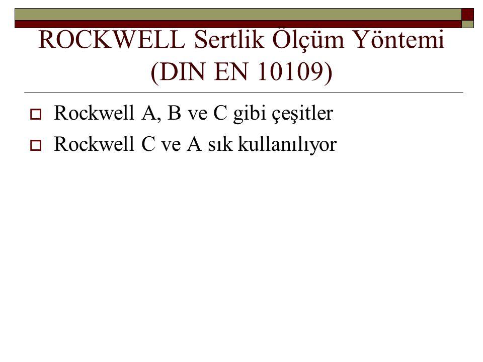 ROCKWELL Sertlik Ölçüm Yöntemi (DIN EN 10109)