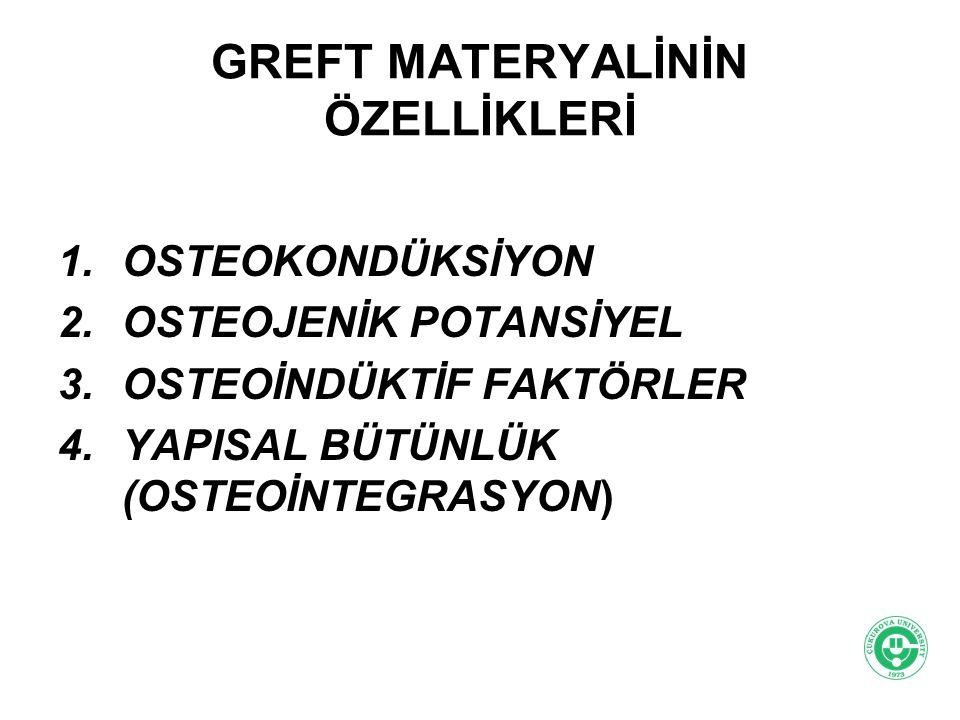 GREFT MATERYALİNİN ÖZELLİKLERİ