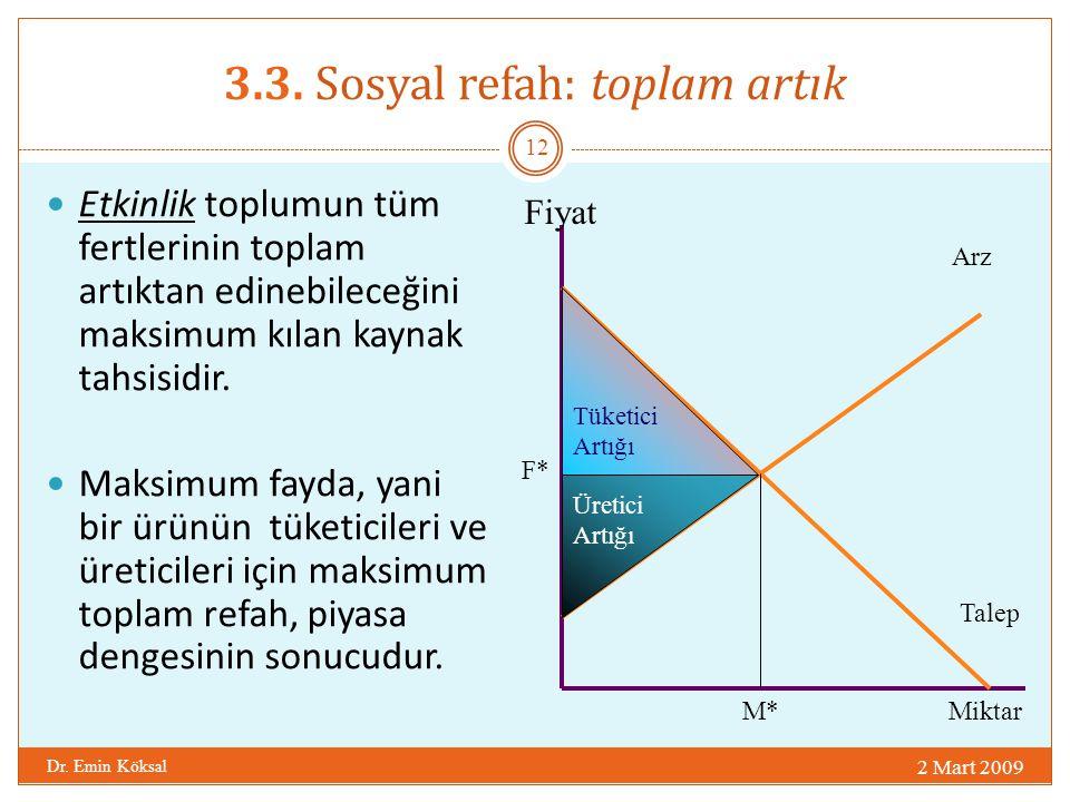 3.3. Sosyal refah: toplam artık